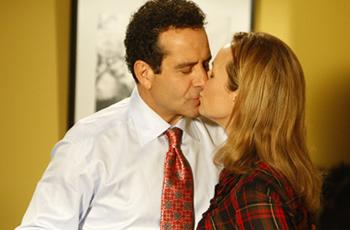 Tony Shalhoub and Melora Hardin