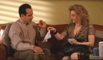 Tony Shalhoub and Bitty Schram